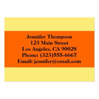 yellow orange business card