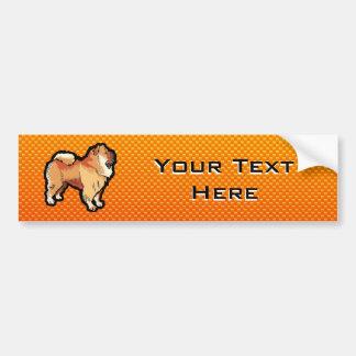 Yellow Orange Chow Chow Bumper Sticker