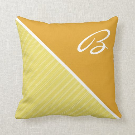 Yellow Orange Throw Pillow