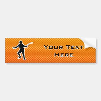 Yellow Orange Fencing Bumper Sticker