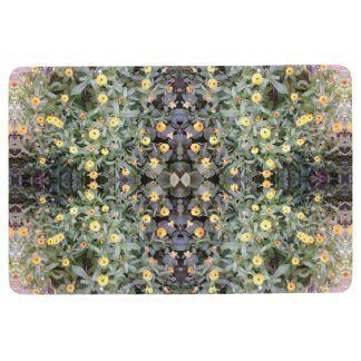 Yellow / Orange Flower Photo Floor Mat