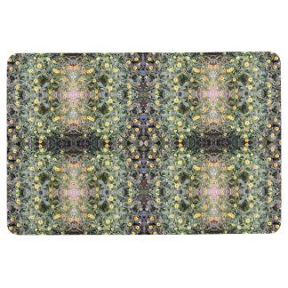 Yellow / Orange Flower Photo fractal Floor Mat