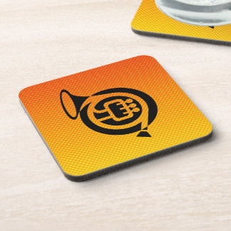Yellow Orange French Horn Coasters