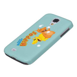 Yellow & Orange Hippo Galaxy S4 Case