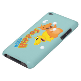 Yellow & Orange Hippo iPod Case-Mate Case