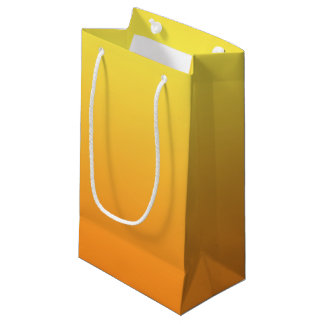Yellow & Orange Ombre Small Gift Bag