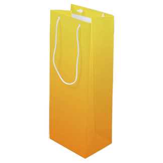 Yellow & Orange Ombre Wine Gift Bag
