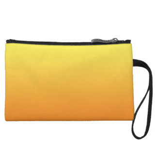 Yellow & Orange Ombre Wristlet Purse