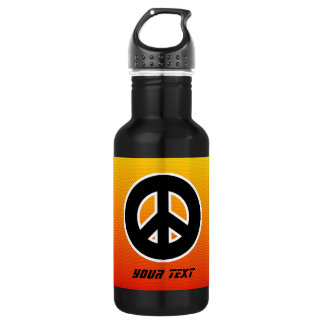 Yellow Orange Peace Sign 532 Ml Water Bottle