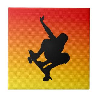 Yellow Orange Skateboarding Tile