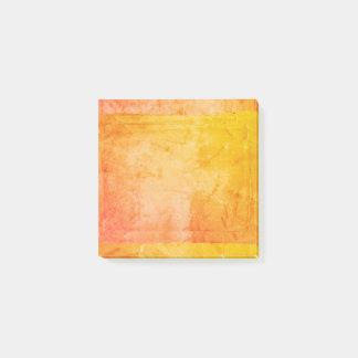 Yellow Orange Watercolor Paint Screen Print Artist Post-it® Notes