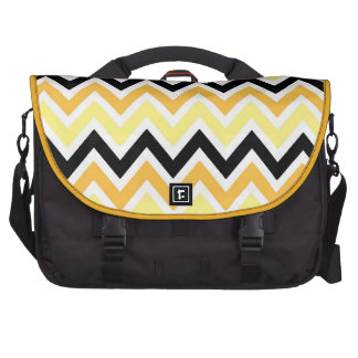 Yellow Orange White and Black Zigzags Commuter Bag