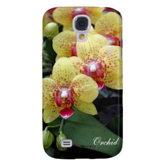 Yellow orchid flowers galaxy s4 case