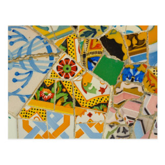 Yellow Parc Guell Tiles in Barcelona Spain Postcard