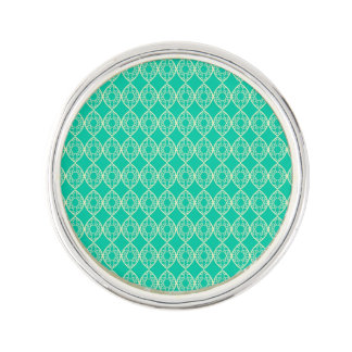 Yellow Pattern with Green Background Lapel Pin