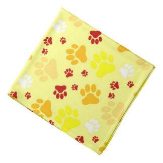 Yellow Paw Prints | Dog Do-rags