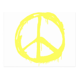 Yellow Peace Postcard