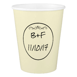 Yellow Personalized Wedding Cup