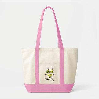 Yellow Polka Dot Bikini Bag