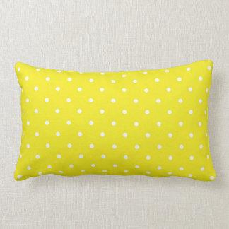 Yellow Polka Dot Design Lumbar Pillow