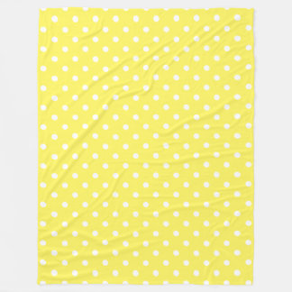 Yellow Polka Dot Fleece Blanket