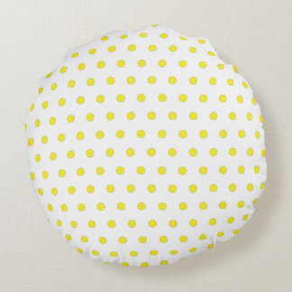 Yellow Polka Dot Throw Pillow