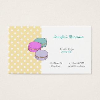 13 french kawaii business cards and french kawaii business card yellow polka dots macaron cute kawaii macarons business card colourmoves