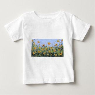Yellow Poppy Garden Painting, Yellow Poppies, Art Baby T-Shirt