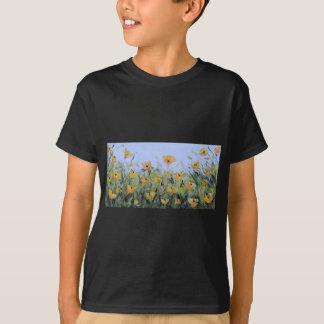 Yellow Poppy Garden Painting, Yellow Poppies, Art T-shirts