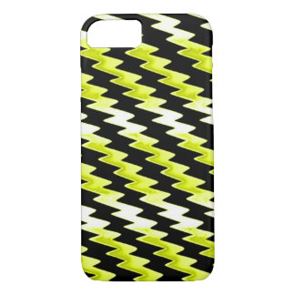 Yellow Psychedelic Lightning Pattern iPhone 7 Case