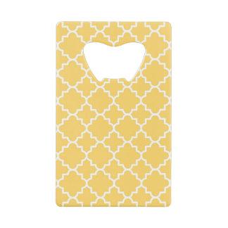 Yellow Quatrefoil Pattern