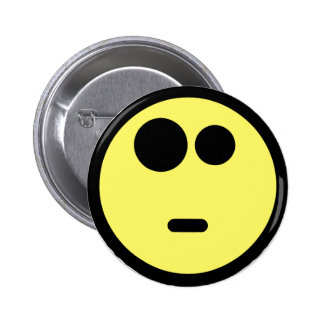 Yellow Questioning Smiley Face 6 Cm Round Badge