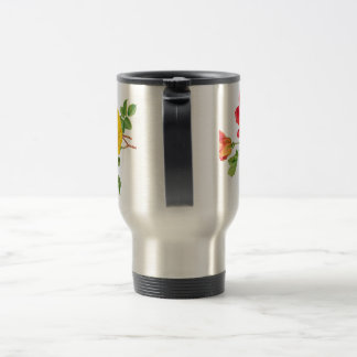 Yellow Red Roses Stainless Steel Travel Mug