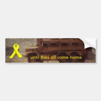 Yellow Ribbon and MRAP Bumper Sticker