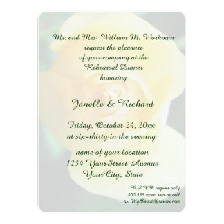 Yellow Rose 14 Cm X 19 Cm Invitation Card