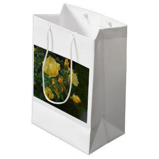 yellow rose boho rustic floral for her gift bag