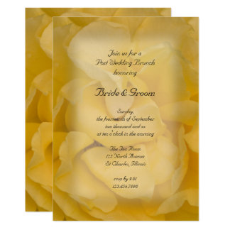 Yellow Rose Floral Post Wedding Brunch Invitation