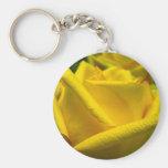 Yellow Rose Key Chain