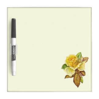 Yellow rose marker board Dry-Erase board