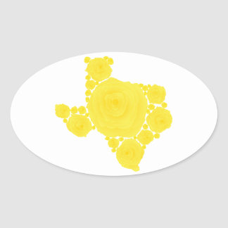 Yellow Rose of Texas Oval Sticker
