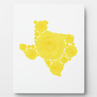 Yellow Rose of Texas Photo Plaque