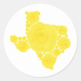 Yellow Rose of Texas Round Sticker