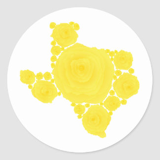 Yellow Rose of Texas Round Sticker