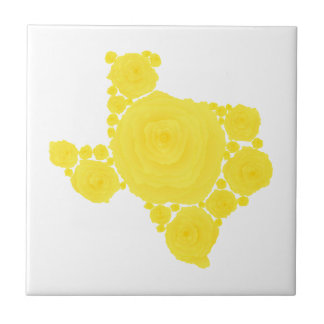 Yellow Rose of Texas Small Square Tile