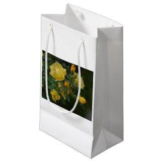 yellow roses boho gloral rustic cute gift bag