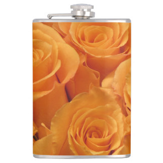 Yellow Roses Hip Flask