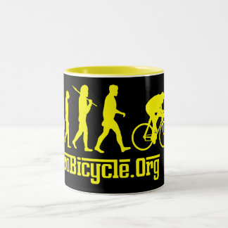 Yellow Rosso Yellow Jersey Cycling Evolution Coffee Mugs