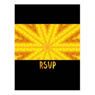 Yellow RSVP Postcard