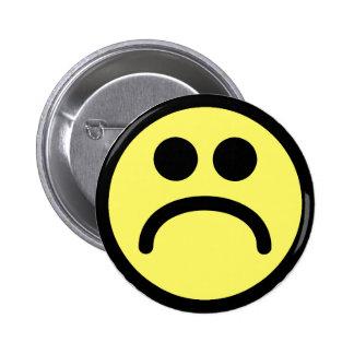 Yellow Sad Smiley Face 6 Cm Round Badge