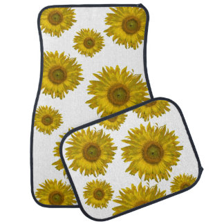 Yellow Scattered Sunflowers Car Mat